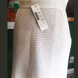 abe620891c J. Crew Skirts | Nwt J Crew White Netted Flared Circle Skirt Sz 0 ...